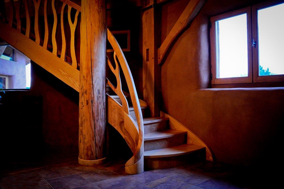 Escalier bois intérieur
