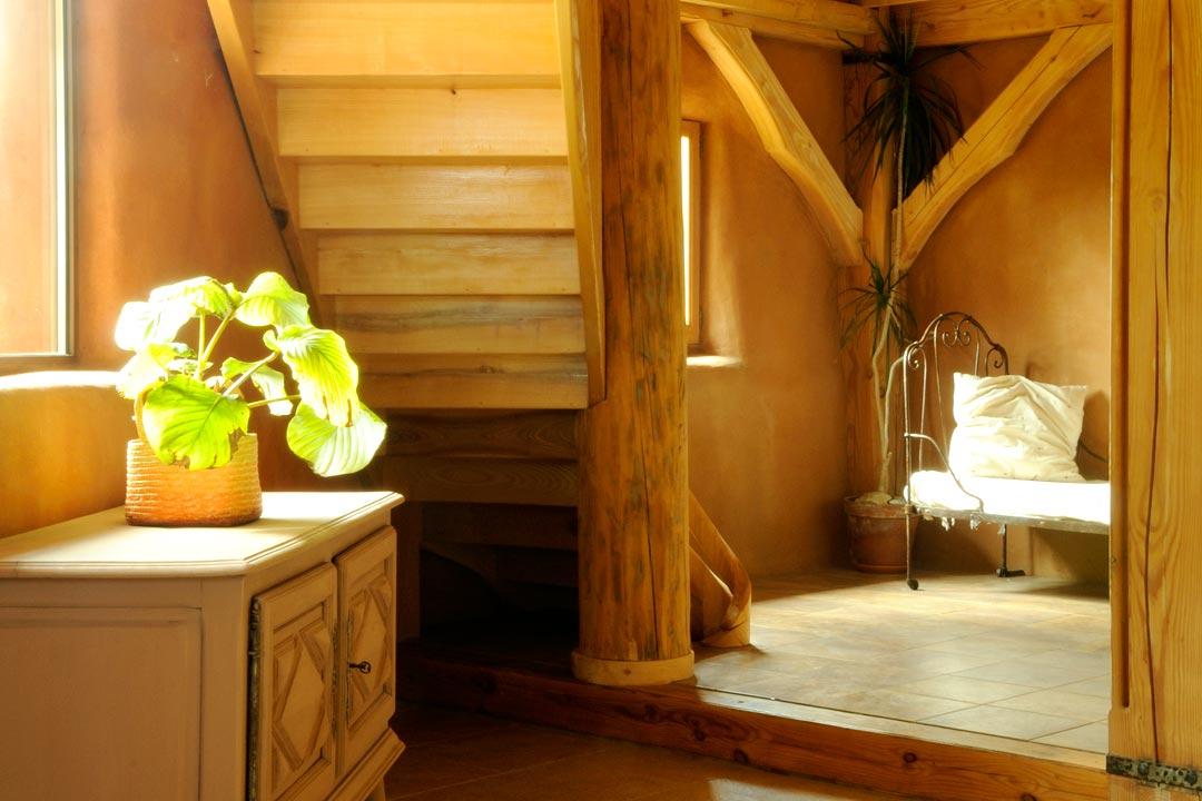 Intérieur maison escalier