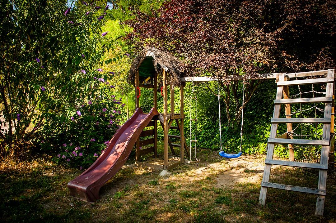 Portique bois jardin