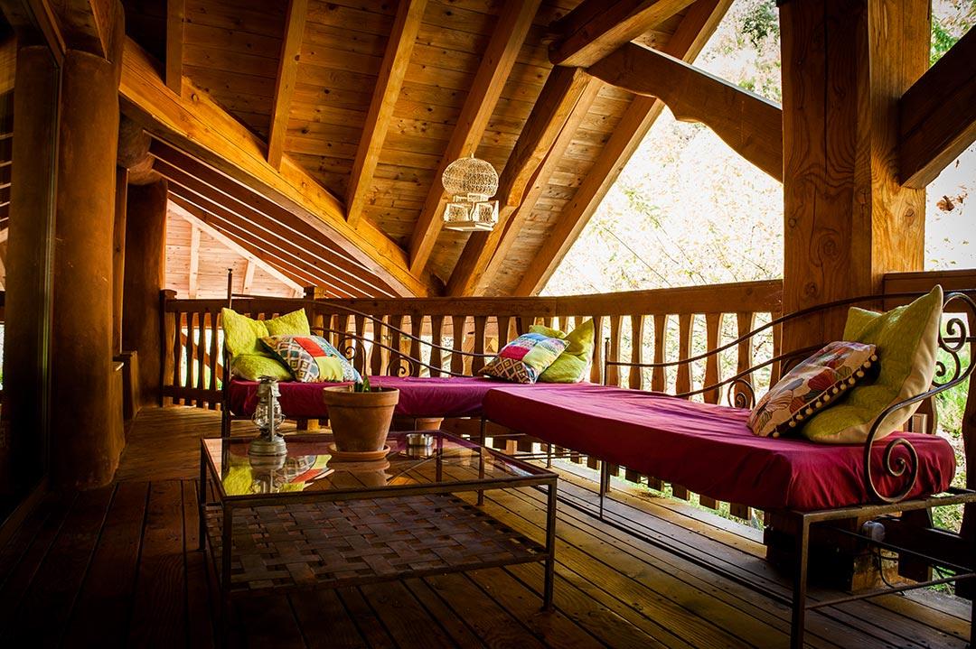 Salon étage terrasse extérieure